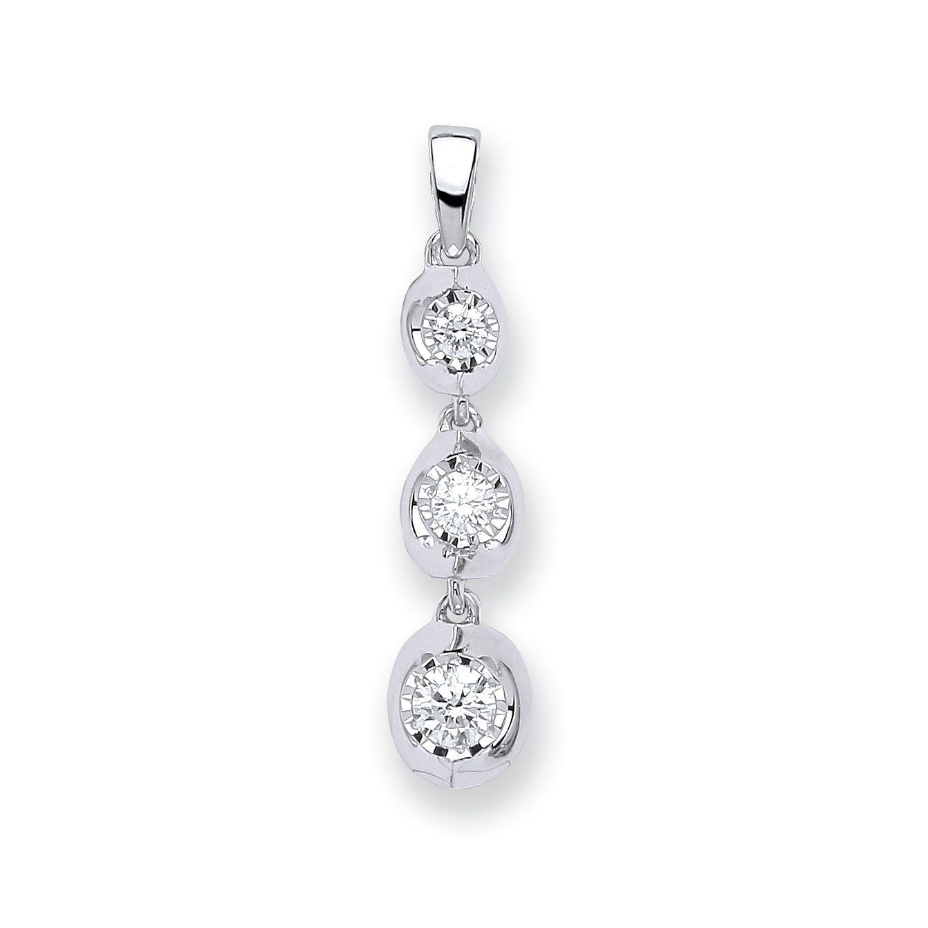 023ct diamond trilogy drop pendant aureum jewellery 023ct diamond trilogy drop pendant aloadofball Choice Image