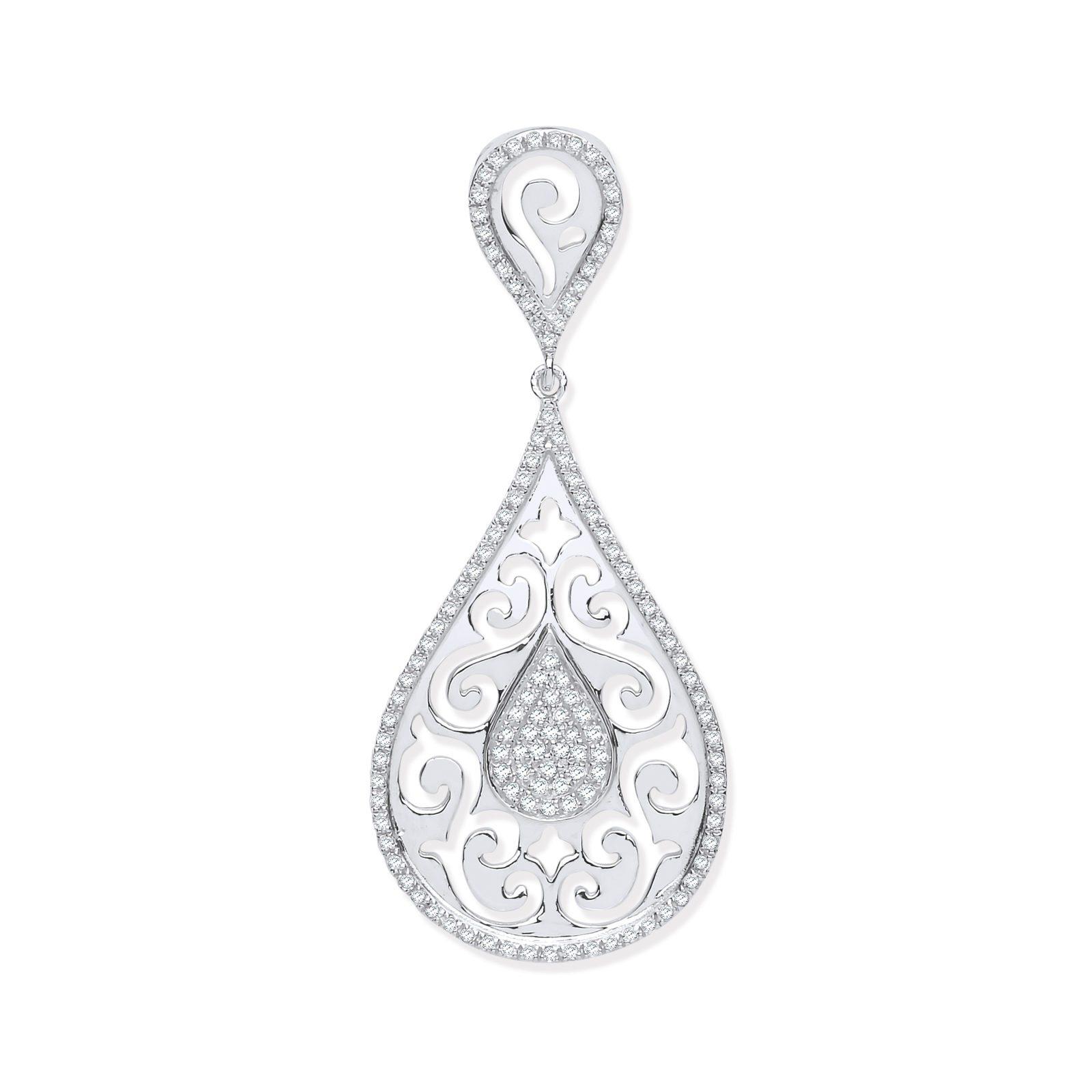 025ct diamond pear shaped pendant aureum jewellery 025ct diamond pear shaped pendant aloadofball Images