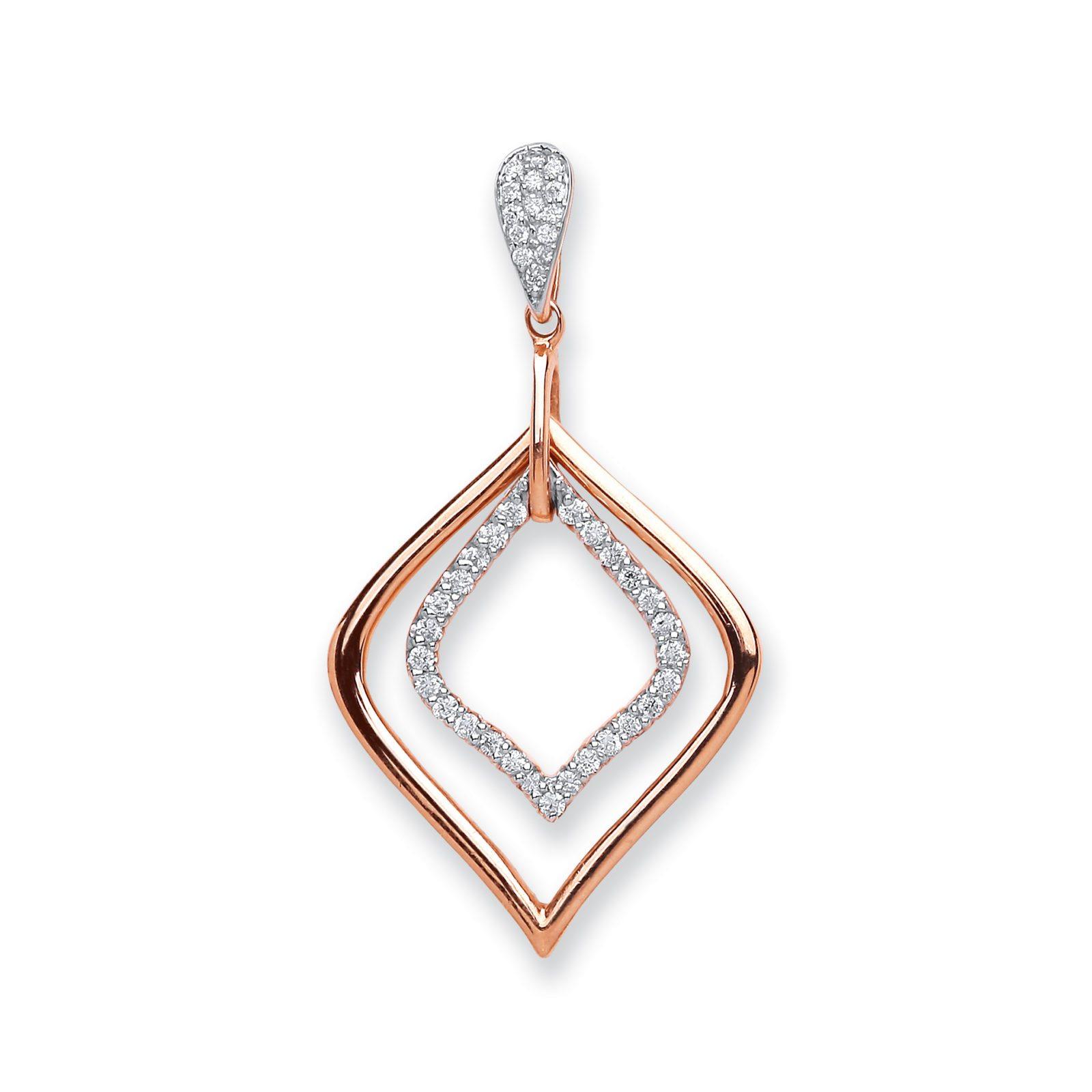 025ct diamond shaped pendant aureum jewellery 025ct diamond shaped pendant aloadofball Images